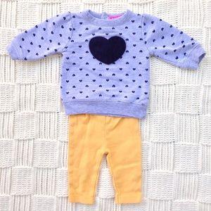 👶 Isaac Mizrahi Baby Sweatshirt & Pants Set 💛